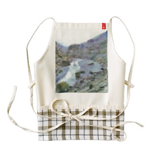 River making its way through a valley zazzle HEART apron
