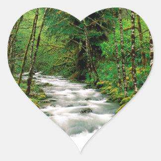 River Mckenzie Willamette Forest Oregon Heart Sticker