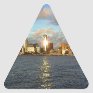 River Mersey & Liverpool Waterfront Triangle Sticker