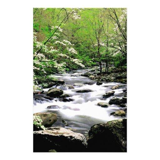 River Middle Prongdogwoods Smoky Tennesse Stationery Paper