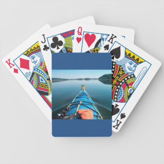 river mirror bicycle playing cards