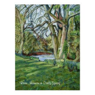 River Monnow at Allt-yr-Ynys in Early Spring Postcard