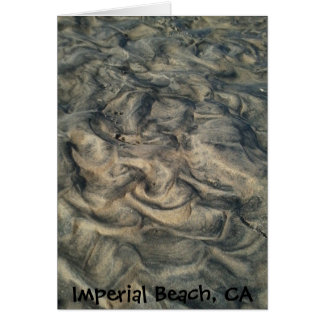 River Mouth Sand Designs Card
