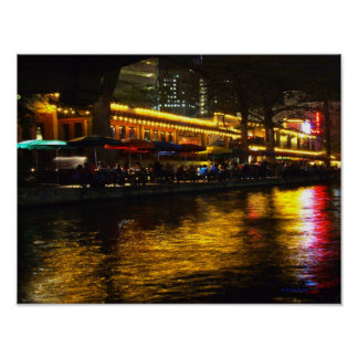 River Night Life Poster