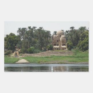 River Nile Scene Rectangular Sticker