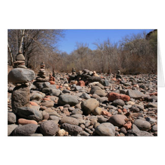 River of Cairn Greeting Card