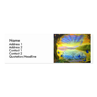 River Of Life-Profile Card Double-Sided Mini Business Cards (Pack Of 20)