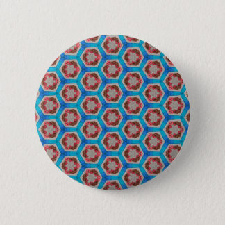 River of the Hexagon 1 Pinback Button