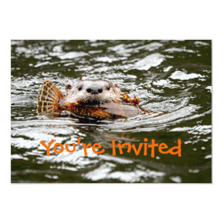River Otter and Fish Card
