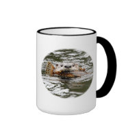 River Otter and Fish Coffee Mugs