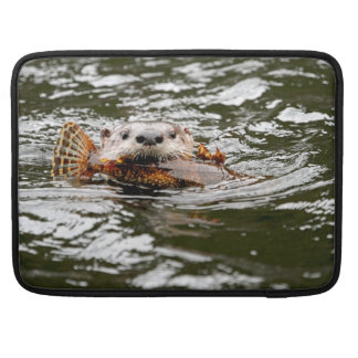 River Otter and Fish MacBook Pro Sleeves