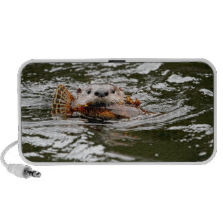 River Otter and Fish iPhone Speaker