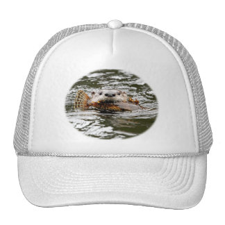 River Otter and Fish Trucker Hat