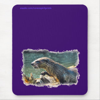River Otter Animal-lover's Wildlife Photo Mouse Pad