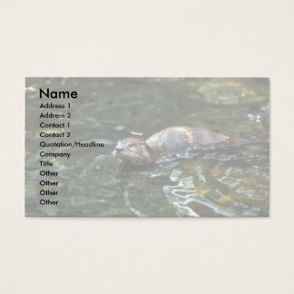 River Otter Business Card