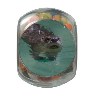 River Otter Glass Jar