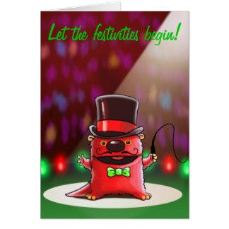 River Otter Christmas Card