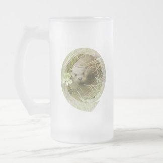 River Otter Habitat Frosted Beer Mug