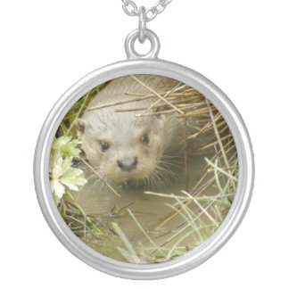 River Otter Habitat Sterling Silver Necklace