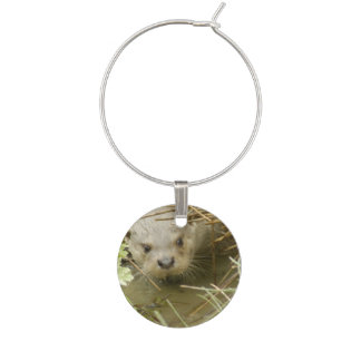 River Otter Habitat Wine Glass Charm