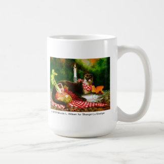 River Otter Invades Picnic Spread Coffee Mug