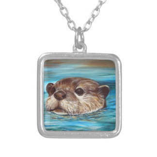 River Otter Silver Plated Necklace