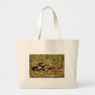 River Otters Canvas Bags