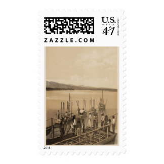 River party, Camp Mohave Postage