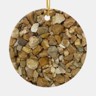 River Pebbles Ceramic Ornament