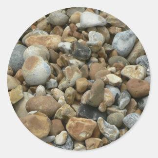 River Pebbles Classic Round Sticker