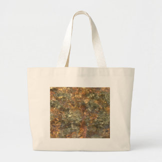 River Pebbles Photo in Golds, Oranges and Browns Tote Bag