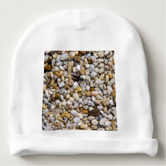 River Pebbles Rocks in Brown, Gray and White Baby Beanie