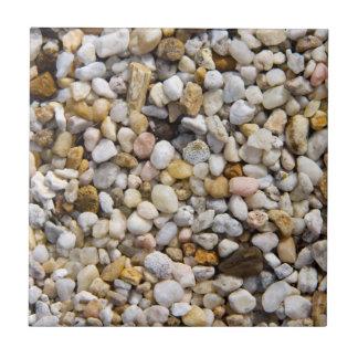 River Pebbles Rocks in Brown, Gray and White Ceramic Tile