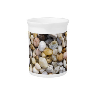 River Pebbles Rocks in Brown, Gray and White Drink Pitcher
