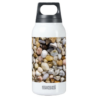 River Pebbles Rocks in Brown, Gray and White Insulated Water Bottle