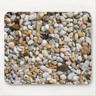 River Pebbles Rocks in Brown, Gray and White Mouse Pad