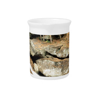 River Pikes Falls Windham County Vermont Drink Pitcher