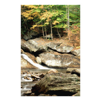 River Pikes Falls Windham County Vermont Stationery Design
