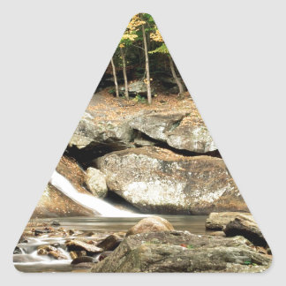 River Pikes Falls Windham County Vermont Triangle Sticker