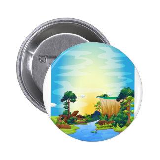 River Pinback Button
