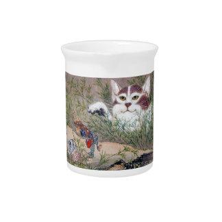 River pot dawn 斎, monster cat drink pitchers