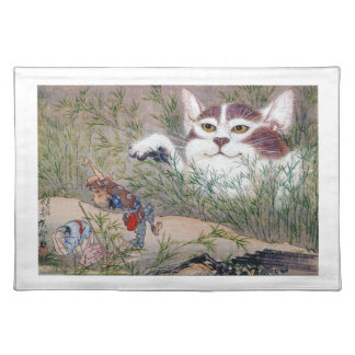 River pot dawn 斎, monster cat placemat