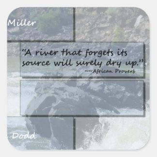 River Proverb Sticker