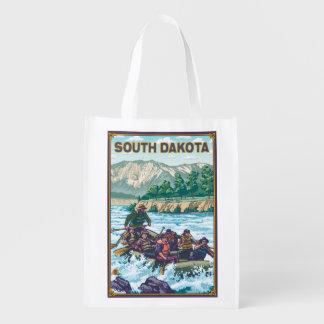 River RaftingSouth Dakota Reusable Grocery Bag