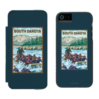 River RaftingSouth Dakota Wallet Case For iPhone SE/5/5s
