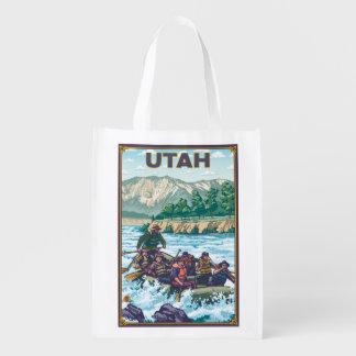 River RaftingUtah Reusable Grocery Bag