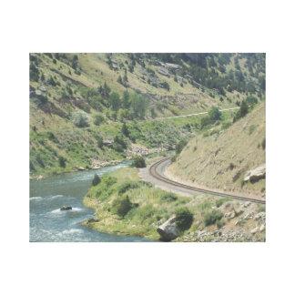 River Railroad Canvas Print