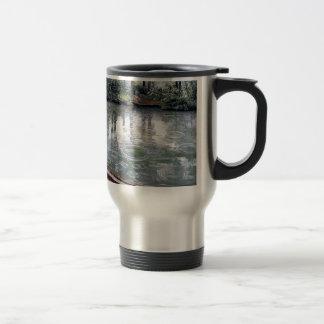 River Rain Water Boat painting Travel Mug