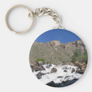 River Rapids Basic Round Button Keychain