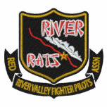 RIVER RAT Embroidered  F-16 Golf Polo (Dark Shirt)